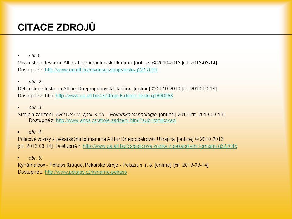 CITACE ZDROJŮ obr.1: Mísicí stroje těsta na All.biz Dnepropetrovsk Ukrajina. [online]. © 2010-2013 [cit. 2013-03-14].